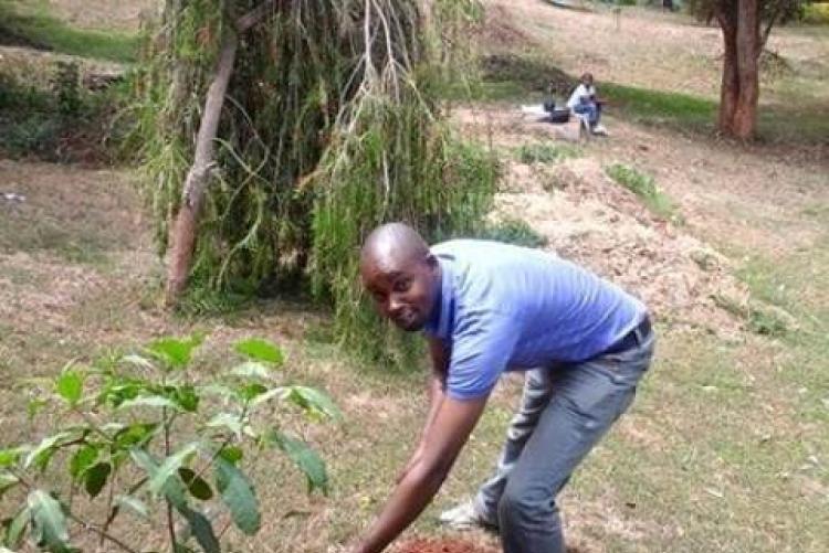 Ambulance Driver Plants a Tree at UHS