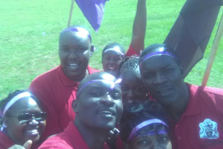 purple team celebrating a win