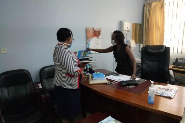 Former CMO DR. Doreen Asimba handing over to the incoming CMO DR. Lucy Muhia-Ndah