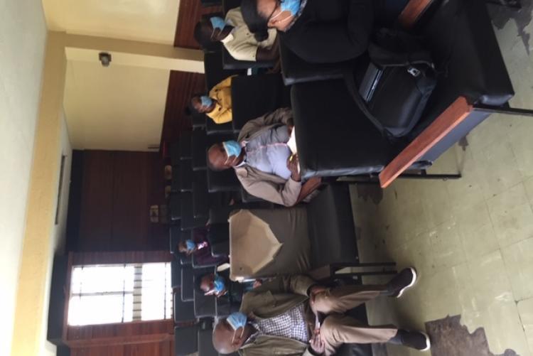 UHS staff  listening during training
