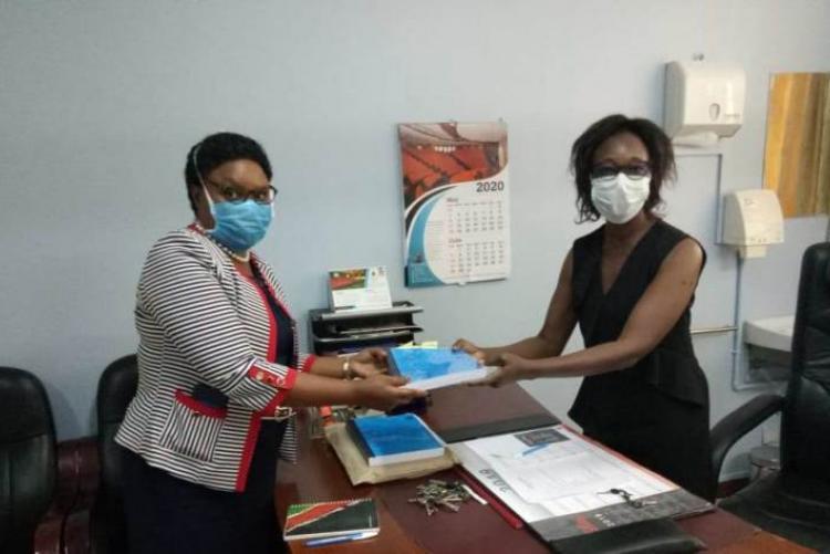 Former CMO DR. Doreen Asimba handing over to the incoming CMO DR. Lucy Muhia-Ndahi