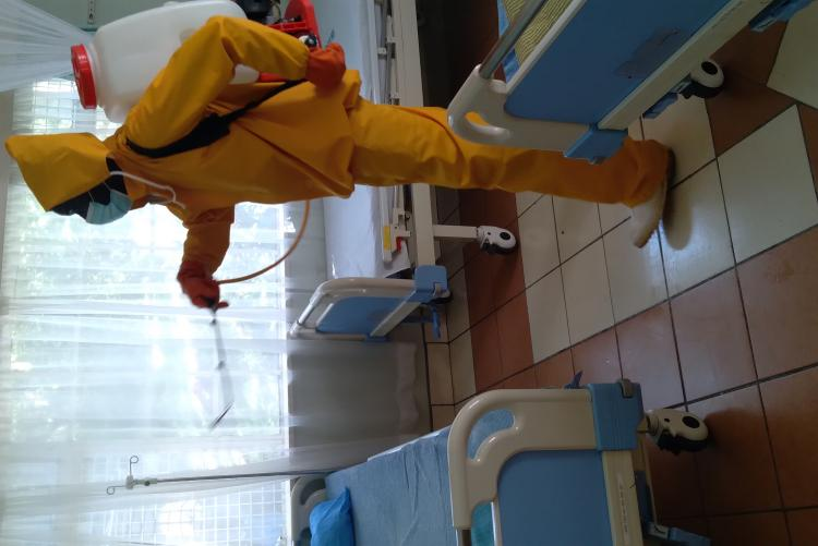 fumigation of the hospital