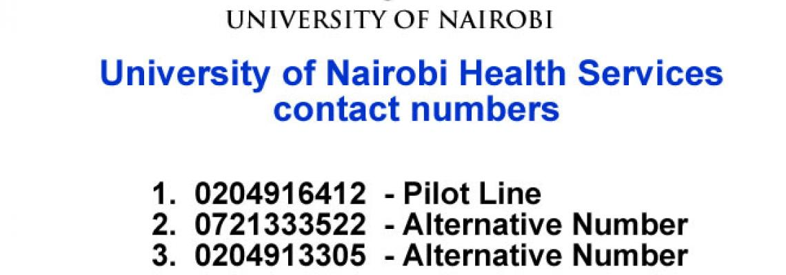 University of Nairobi Health Services contact numbers